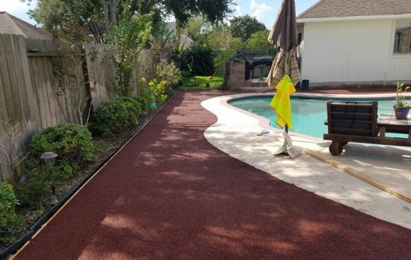 Porous Pave pool deck